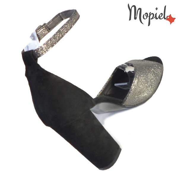 Sandale dama din piele naturala 202134 R23 Argintiu-Negru Rowa incaltaminte online