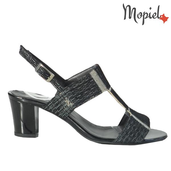 Sandale dama din piele naturala 202135 R23 Negru Monica
