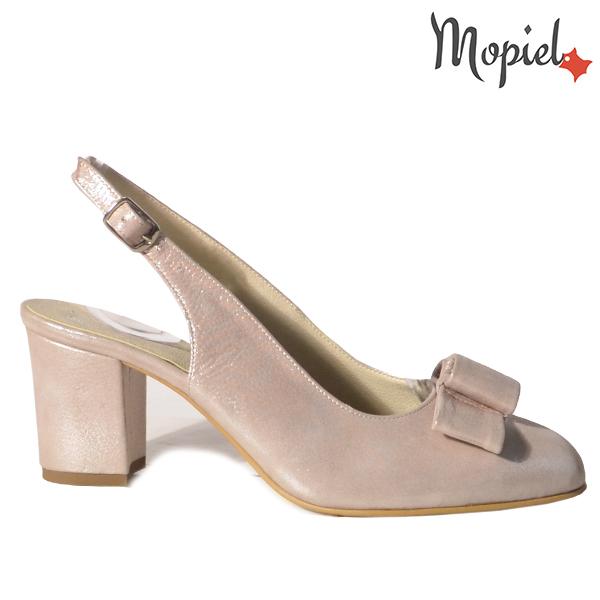 Sandale dama din piele naturala 202138 R23 Nude-Sidef Ophelia