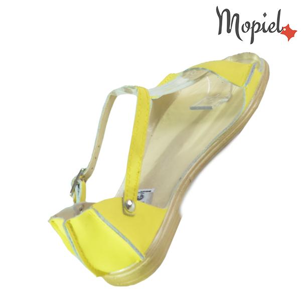 Sandale dama, din piele naturala 25206 Galben Sinem incaltaminte ieftina